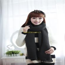 New Chegada Moda Girl Winter Neck Warmer malha Snood cachecol com botões