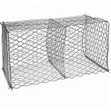 Caja de malla de alambre de gaviones galvanizados hexagonales