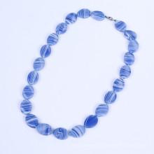 Nuevos productos azul bandas ágata joyería