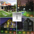 New Product Outdoor Wall Solar Light 66LED Flicking Flames Lamp for Fence Wall Park