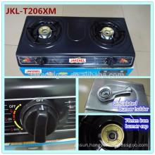 teflon coated double burner gas stove,gas cooker