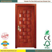 Древесины МДФ ПВХ двери ПВХ Складные двери деревянные главной двери