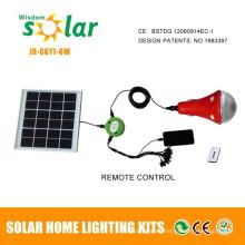 2015 nuevo producto solar alumbrado con cargador para casa