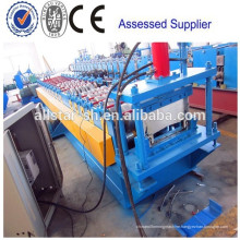 Roofing system standing seam metal roof machine