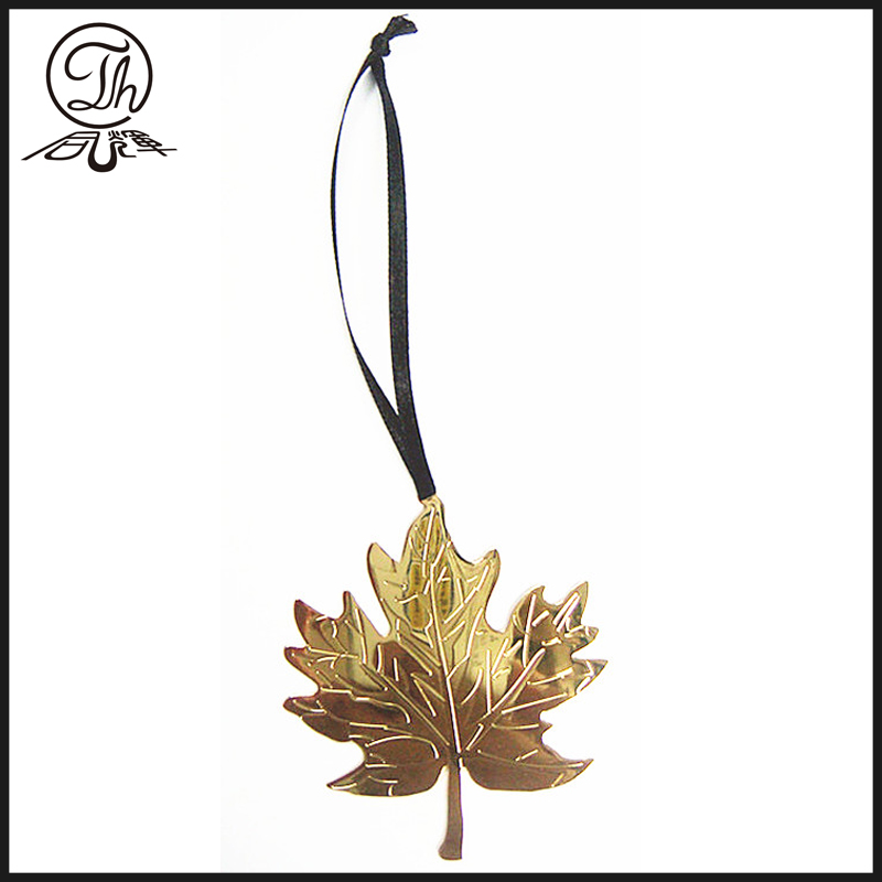 The leaf shape metal bookmark