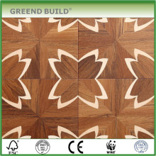 Modelo de flor acabado moderno suelo de parquet de madera sólida en venta