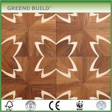 Flower Pattern Finiished Modern Solid Wood Parquet Flooring For Sale