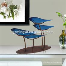 Electroplate artisanat haute décoration ronde polyresin ornement poisson élément décoratif chanceux