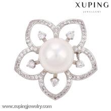 00013-xuping turkish cor prata jóias grande um broche de pérolas de diamantes