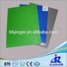 Esteira de borracha ESD brilhante ou maçante alta verde