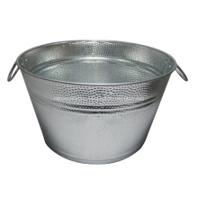 Galvanized Champagne Oval BBQ Ice Bucket