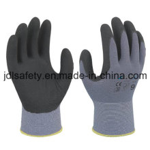Gants de travail en nylon avec Superfine mousse Nitrile plongeant (N1554)