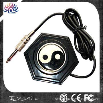 Estilo clássico chinês 360 rodada Ying-Yang tatuagem pé pedal com fio longo plug