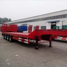 4 axles 40ton low bed semi trailer