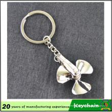 Precio de fábrica en blanco Metal Fan Shape Keychain Wil Logo o no