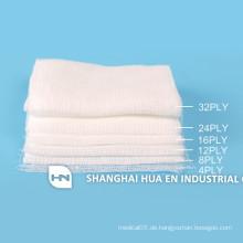 Hochwertige sterile medizinische absorbierende Baumwoll-Gaze-Tupfer