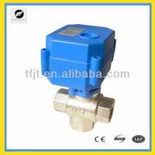"3 way DC12V 1/2"" electric motor shut off valve for Irrigation system,cooling/heating system"