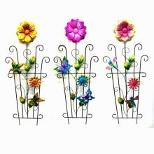 Vivid Colored Metal Decoration Spring Garden Flower Fence Craft