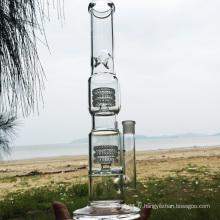 Double Swirl Straight Pipes d'eau à fumer en verre de style plus récent (ES-GB-283)