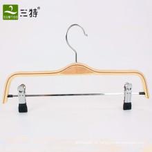 laminierte Holzhakenaufhänger mit Clips