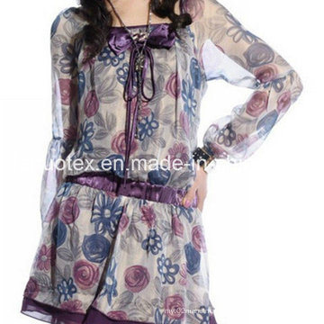 Polyester Printed Chiffon for Dress