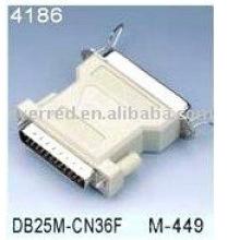 DB25M to CEN36F Printer Adapter (4186)