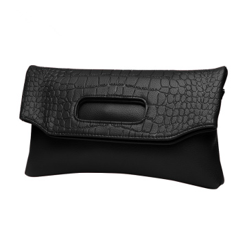 Crocodile Large Plånböcker Clutch Purse Wristlet Bag