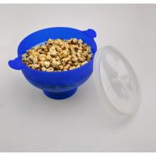 Foldable Microwave Silicone Popcorn Maker/ Popper with Heart Shape Handle