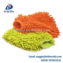 Da luva super da lavagem de carros da absorção de água do Chenille de Microfiber do fornecedor de China na venda