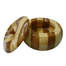 Hot Selling Durable Wooden Circular Ashtray