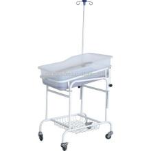 Durable Hospital Plastic New Born Cuidado del bebé Crib beds Trolley