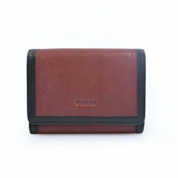 Trifold Leather Wallet Woman Purse Cadeau Personnalisé
