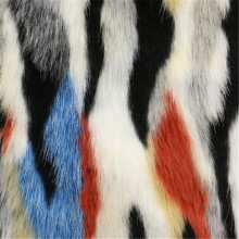 Colorful Fur Woolen Fabric for Women′s Overcoat