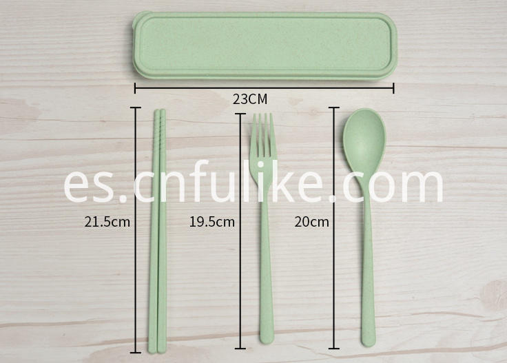 Green Plastic Tableware