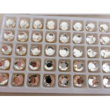 Cuentas de vidrio redondas espalda plana para joyas de cristal