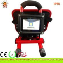 Wiederaufladbare 10W LED Solar Flutlicht wasserdicht IP68