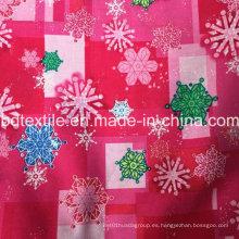 Marca de fábrica famosa pequeña MOQ X'mas Decoración del día de fiesta Tela del copo de nieve Productos al por mayor de la Navidad