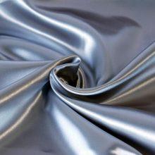 Venta caliente de alta calidad de color personalizado llano teñido de satén color sólido tela de tela