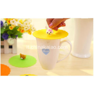 Candy Color Mug Cover Silicone Cup Lid