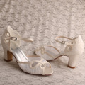 Ivory+Sandals+for+Wedding+Size+5