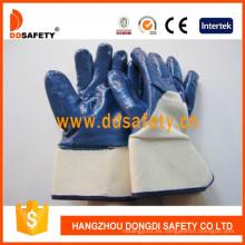 Guantes de algodón o forro de jersey con recubrimiento de nitrilo resistente Dcn309