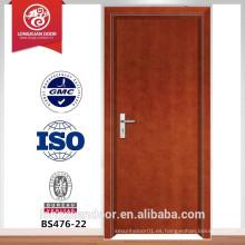 Puerta de madera ignífuga de BS, puerta de seguridad, puerta de madera del entance