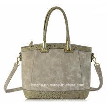 Cheap PU Leather Factory Women Ladies Handbag (ZXE1205)