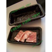 Mercado da Europa Carne Popular e Indústria Alimentar Use Bandeja de Comida Congelada Embalagem Feita de Eco-Friendly PP / Pet