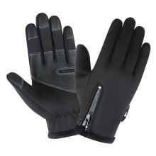 Wholesale Warm Fleece Windproof Waterproof Touch Screen Non-Slip Thick Zipper Outdoor Sports Gloves