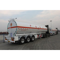2016 caliente aluminio 45m 3 tanque de combustible acoplado Semi, acoplado del tanque