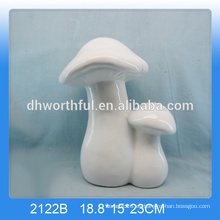 Decoración de hogar de cerámica simple del diseño en forma de seta