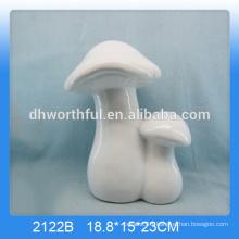 Simple design ceramic home decoration in mushroom shape