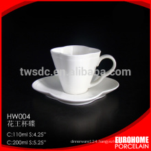 online shopping hot sale hotel use fine porcelain ceramic cup and saucer