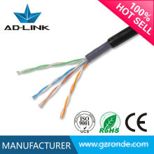 Cat5e câble de réseau double enveloppe extérieure, veste en PVC PVC